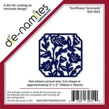 """Die-namites DN-1023 Sunflower Serenade Cutting Die Approx 3x3"""""""