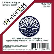 Die-namites DN-1029 Tulip Trio Cutting Die Circle Approx 3""