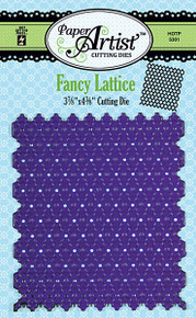 Paper Artist 5301 FANCY LATTICE Cutting Die by Hot Off the Press Works in Most Popular Tabletop Die Cutting Machines