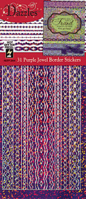 HOTP Dazzles N2444 PURPLE Jewel Border Stickers