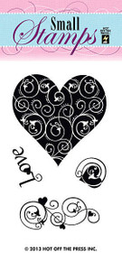 HOTP Clear Stamps Small 1112 Love & Hearts Acrylic