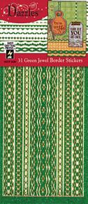 HOTP Dazzles N2439 Green Jewel Border Stickers