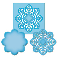 Spellbinders Die D-Lites MEDALLION FOUR S2-021 Cutting Set