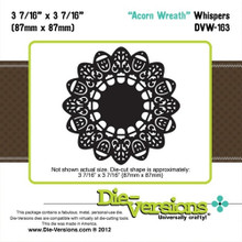Die-Versions DVW-163 ACORN WREATH Cutting Die