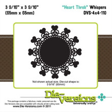 Die-Versions DVW-4X4-110 HEART THROB Whispers Cutting Die