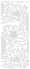 ELIZABETH CRAFT WATERLILLY N2528 BLACK Peel Off Stickers OUTLINE