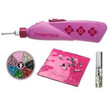 Imaginisce I-Rock Basics Gem Setter Kit Value Bundle Tool Hot Rocks Compact Adhesive Back Pearls & Bling Pad