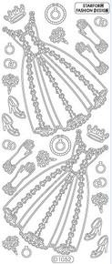 STARFORM BLACK DRESS 1052 Peel Stickers OUTLINE