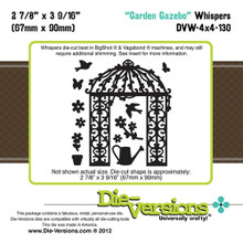 Die-Versions DVW-4x4-130 GARDEN GAZEBO Whispers Cutting Die