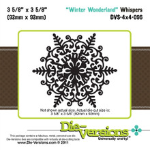 Die-Versions DVW-4x4-096 WINTER WONDERLAND Whispers SNOWFLAKE Cutting Die