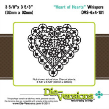 Die-Versions DVW-4X4-101 HEART OF HEARTS Cutting Die