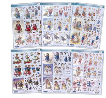 3-D Paintbox Poppets Winter Children 240149 MEGA Pack 16 Sheets in 6 styles!