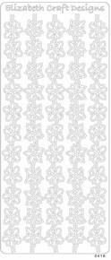 ELIZABETH CRAFTS BORDERS FLOWERS SILVER N0416 Peel Stickers