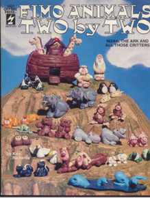 Fimo Animals Two by Two RARE NEW COPY Polymer Clay Book Make Noah The Ark &and All those Critters