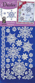 HOTP Dazzles Snowflake Stickers Blue Mirror Silver 2416 Dazzles HOTP