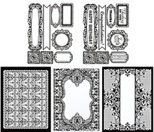 Color Me Card Toppers EBONY LACE BLACK 7057 SM Paper Pack