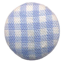 10 Fabric Brads BLUE PLAID (GINGHAM)