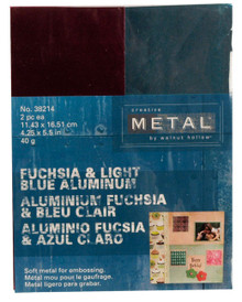 4.25x5.5 Creative Metal Squares FUCHSIA LT.BLUE 4PCS 38214