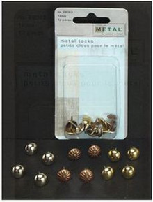 Creative Metal Tacks 12pcs for Use with Soft Embossing Upholstery Style - 29023