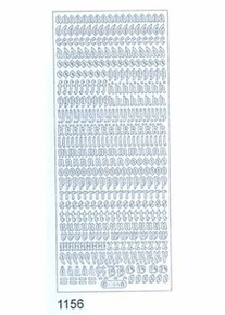 Starform Alphabet Mini SILVER 1156 CALLIGRAPHY LC Outline Sticker