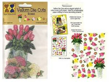 31 Vellum DIE-CUT ROSE IMAGES Card Embellishments