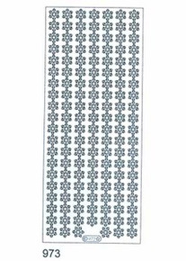Starform SNOWFLAKE BORDERS SILVER N973 OUTLINE STICKERS