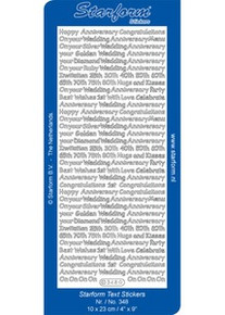 Starform N348 SILVER Mini ANNIVERSARY SAYINGS Outline Peel Sticker