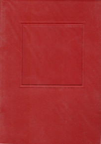 Square Window Card w/ envelope & Insert RED