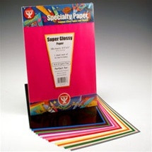 96pc Super Glossy Papers Asst 6.5x8.5 AFLF Scrapbooking