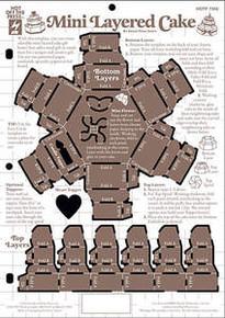 HOTP Template Mini Layered Cake 3-D 7368 Paper Art
