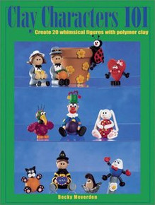 Clay Characters 101 Polymer Book SPIRAL BOUND OOP NEW