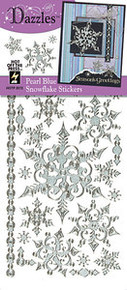 HOTP Dazzles N2072 Blue Pearl Snowflake Outline Peel Sticker
