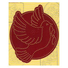 Ornare Pricking Stencil Template Small Dove PR0544