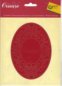 Ornare Pricking Stencil Template Flower Frame pr0506