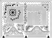 Ecstasy Crafts Parchment Craft Large Piercing Embossing Template Ecstasy Crafts w/Mat