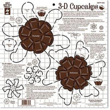 HOTP Template 7346 3-D Cupcakes Template 12X12