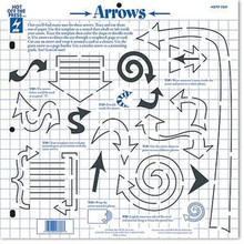 HOTP Template 7337 Arrows Card Making Scrapbooking
