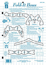 HOTP Template 7334 Fold-It Bows Paper Flair
