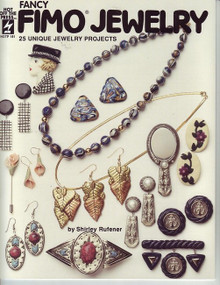 Fancy Fimo Jewelry Polymer Clay OOP Rare NEW book