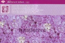 5pcs Parchment Vellum- hydrangea PURPLE Pergamano