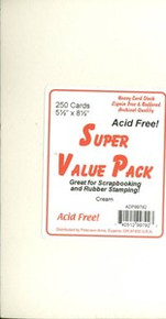 250 Cream A2 Cards 5.5x4.25 Super Value Pack Stamping