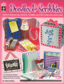 Doodles & Scribbles NEW OOP Painting Book - 2254
