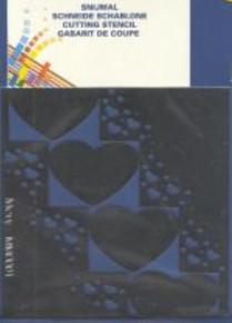 3-D Heart Template Mery Card Making - mm0001