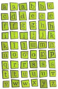 Karen Foster Design Enamel Alphabet Lime Green