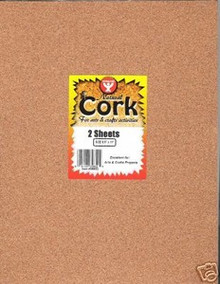 2 Sheets Natural Cork 1mm 39852 AFLF Scrapbooking Crafts