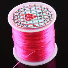 100m .5mm Strong Stretchy beading string PINK elastic