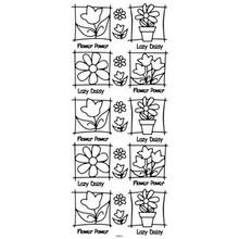 Outline N914 Silver Flowers in Frame  Peel Stickers