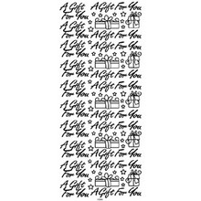 Outline N901 Silver A GIFT FOR YOU Peel Stickers