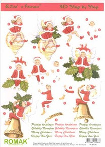 3D Romak ELVES & ORNAMENTS P030105 Die-Cut PRECUT Images
