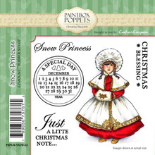 Paintbox Poppets SNOW PRINCESS By Christine Haworth 5-Stamp EZMount Rubber Stamp Set